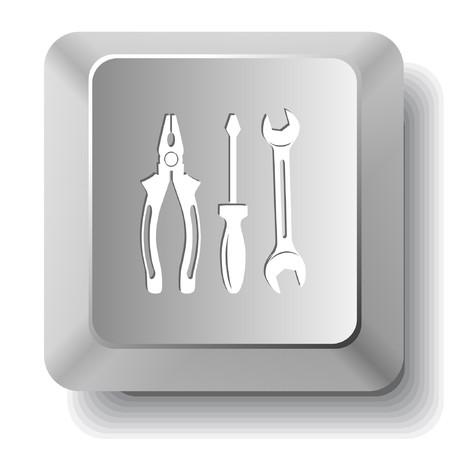 Tools. computer key. Stock Vector - 7523468