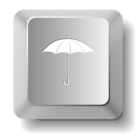 Umbrella.  computer key. Stock Vector - 7522716