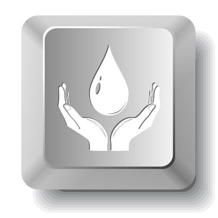 Protection blood. computer key. Vector