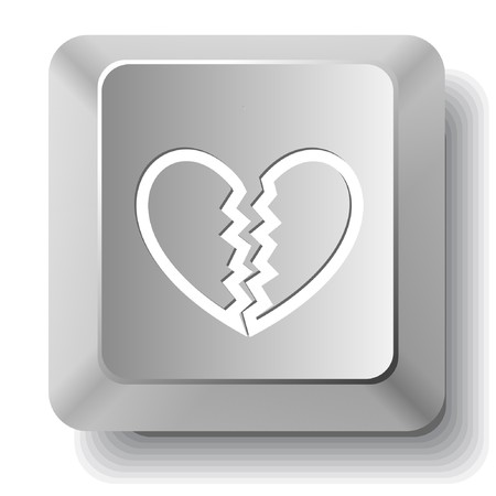 Unrequited love. computer key. Stock Vector - 7522795