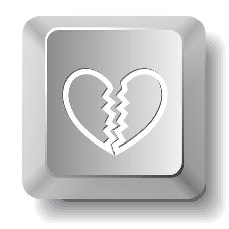 Unrequited love. computer key. Stock Vector - 7522795