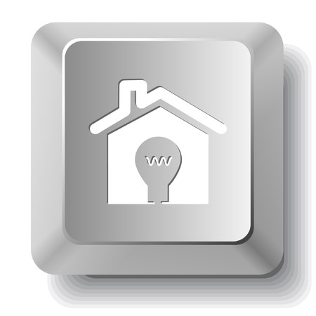 Light in home. computer key. Vector