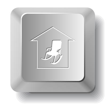 Home comfort. computer key. Vector