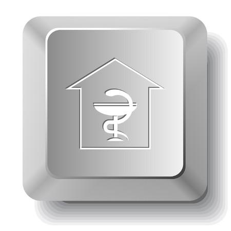 Pharmacy. computer key. Stock Vector - 7522816