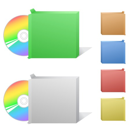 cdr: Box with compact disc Illustration