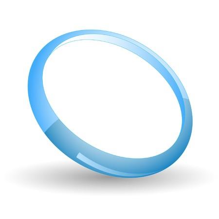 파란색 반지. 일러스트