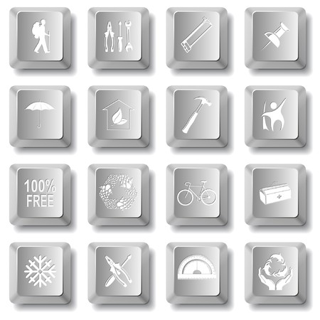 set of computer keys Vector