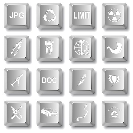 set of computer keys Stock Vector - 7575840