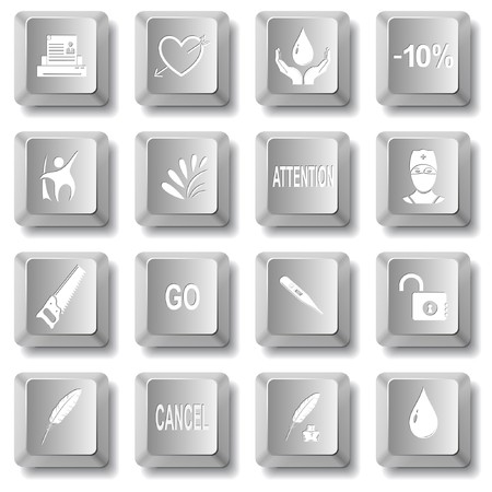 set of computer keys Stock Vector - 7575839