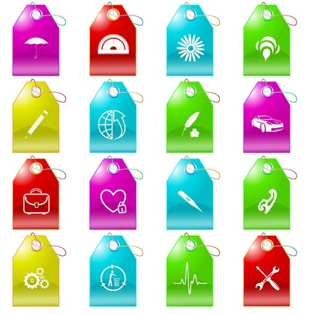 set of tags Vector