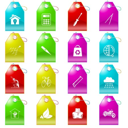 set of tags Stock Vector - 7575873