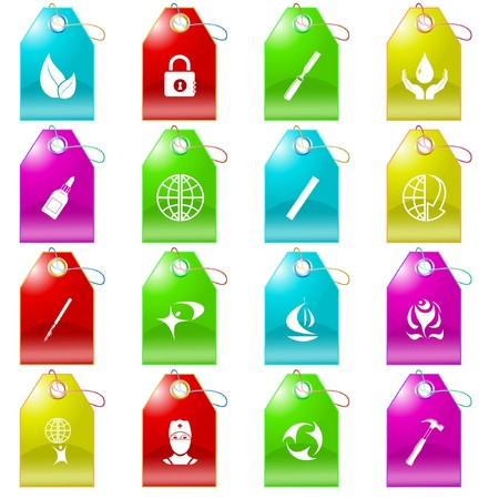 set of tags Stock Vector - 7575871