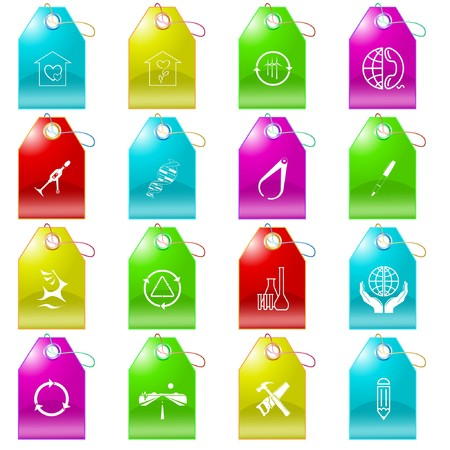 set of tags Stock Vector - 7575868