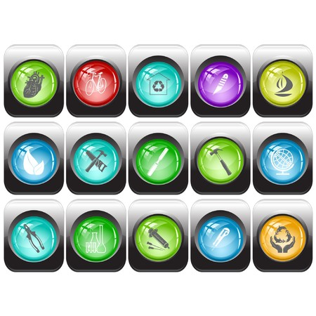 set of internet buttons Stock Vector - 7602209