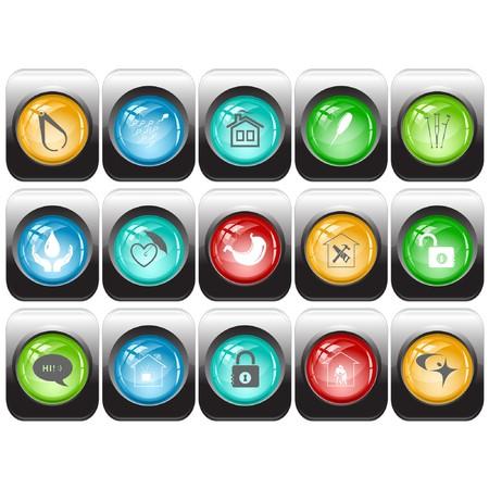 set of internet buttons Vector