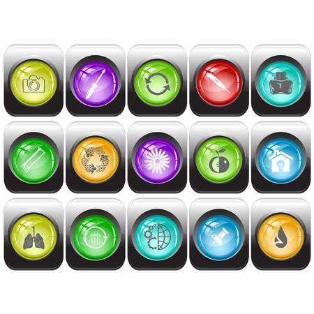 set of internet buttons Stock Vector - 7602207