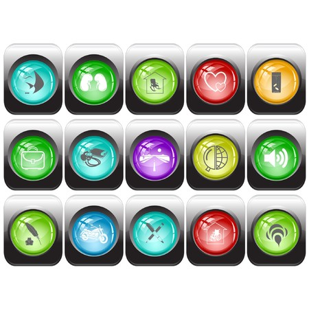 set of internet buttons Stock Vector - 7602197