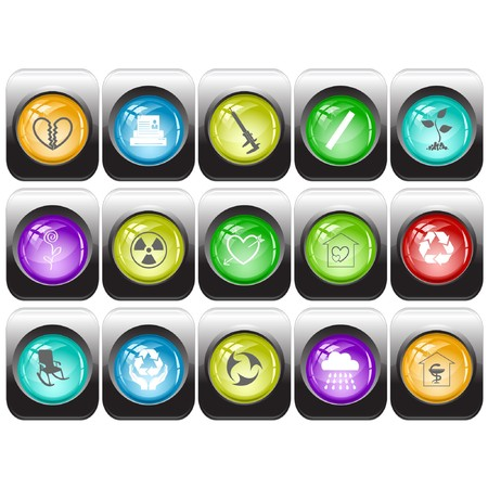 set of internet buttons Stock Vector - 7602190