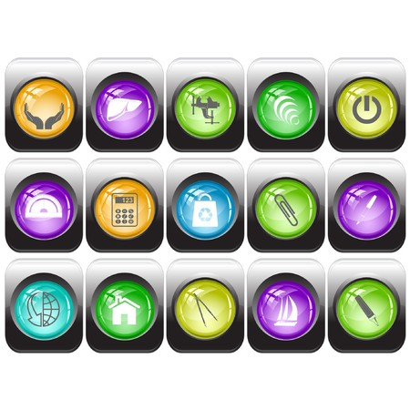 set of internet buttons Stock Vector - 7602208