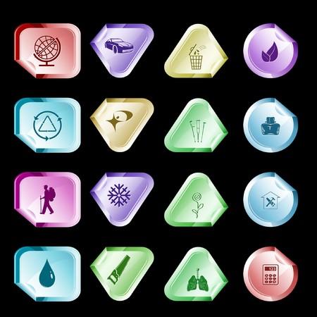 hamose: set of stickers. 16 elements. Illustration