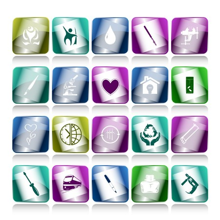 set of internet buttons. 20 elements. Stock Photo - 7634160