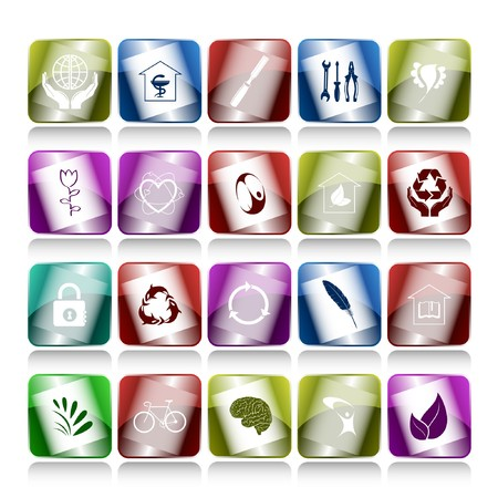 set of internet buttons. 20 elements. Stock Photo - 7634164