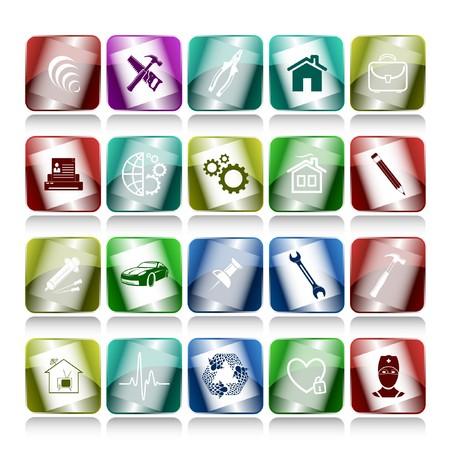 set of internet buttons. 20 elements. photo