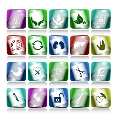 set of internet buttons. 20 elements. Stock Photo - 7634161