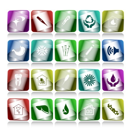 set of internet buttons. 20 elements. photo