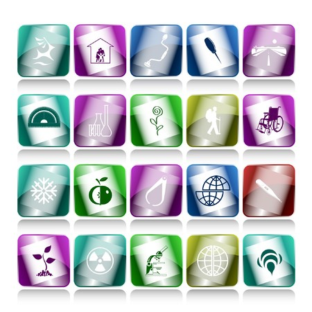 set of internet buttons. 20 elements. Stock Photo - 7634165