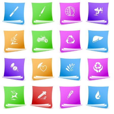 set of paper template Stock Photo - 7634107