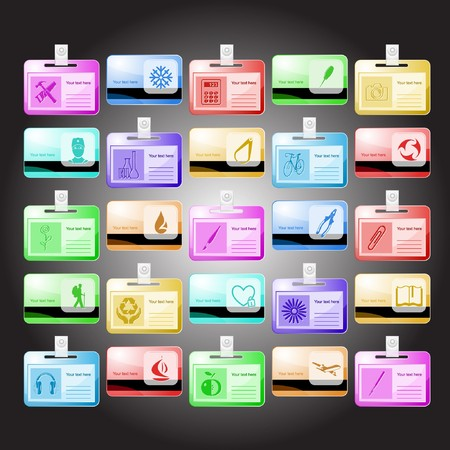 set of id cards. 25 elements. Stock Photo - 7634196