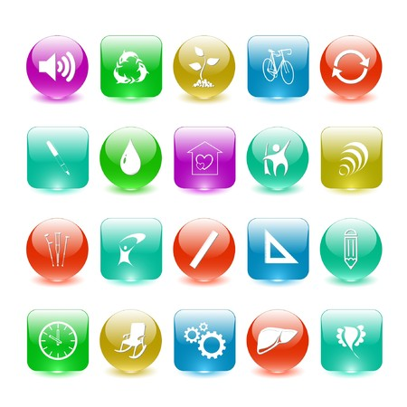 Vector set of interface elements Stock Photo - 7698787