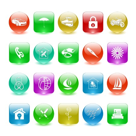 Vector set of interface elements Stock Photo - 7698791
