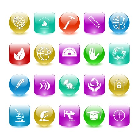 Vector set of interface elements Stock Photo - 7698795