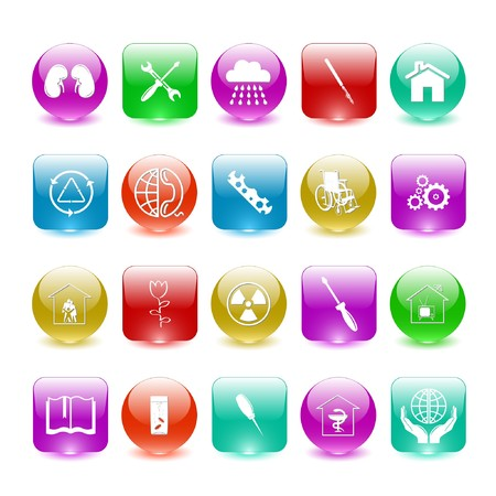 Vector set of interface elements Stock Photo - 7698792