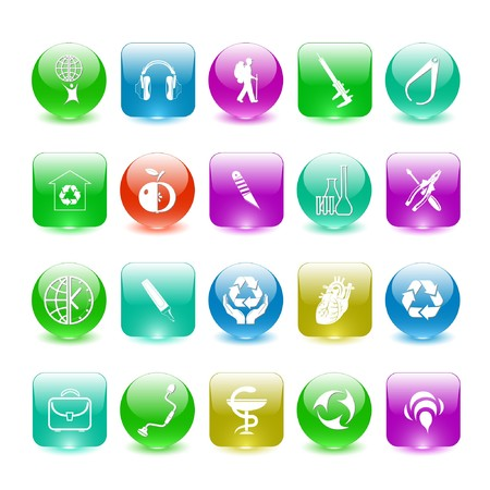 Vector set of interface elements Stock Photo - 7698790