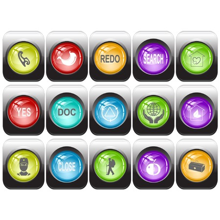 set of internet buttons Stock Photo - 8106096