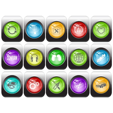 set of internet buttons photo