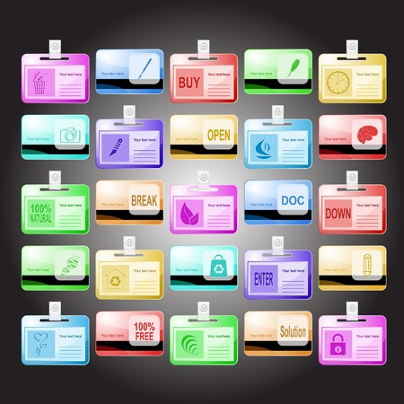 set of id cards. 25 elements. Stock Photo - 8106106