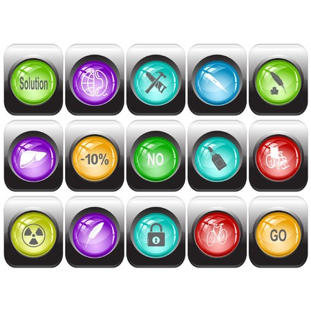 Vector set of internet buttons Stock Photo - 8179187