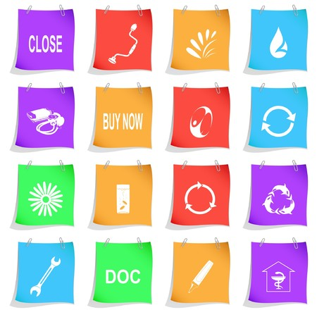 Vector set of note papers Stock Photo - 8179253