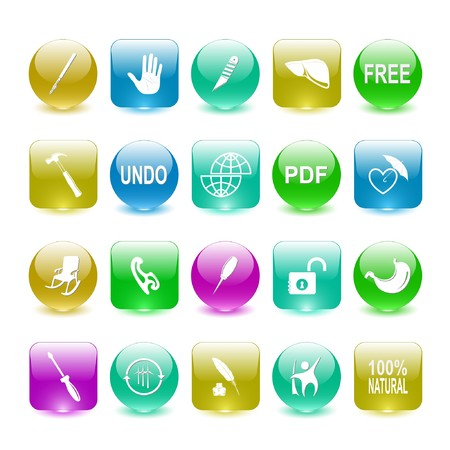 Vector set of interface elements Stock Photo - 8179292