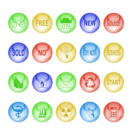 Vector set of interface elements Stock Photo - 8179297
