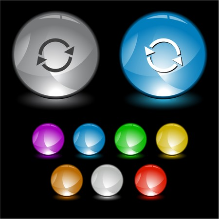 Recycle symbol. Vector interface element. Stock Photo - 8179279