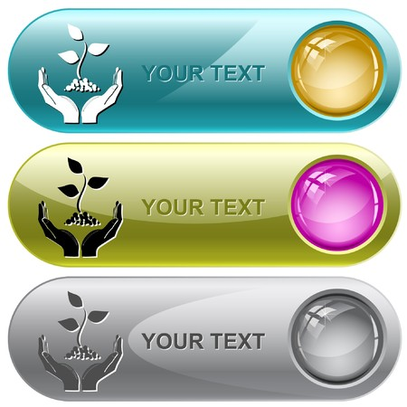 life in hands. Vector internet buttons. Stock Photo - 8179296