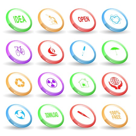 Vector set of rings Stock Photo - 8179300