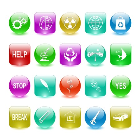 Vector set of interface elements Stock Photo - 8179295