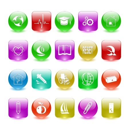 Vector set of interface elements Stock Photo - 8179312