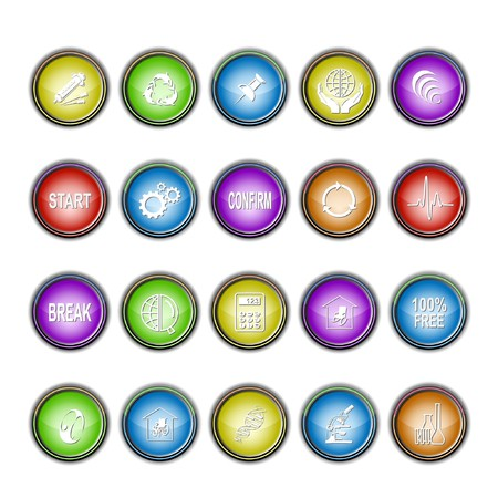 Vector set of interface elements Stock Photo - 8179384